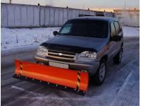 Снегоуборочный отвал на ВАЗ-2123 Chevrolet Niva с АПО