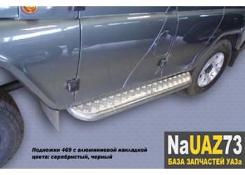 Комплект подножек на УАЗ Барс усиленные с алюминиевыми накладками